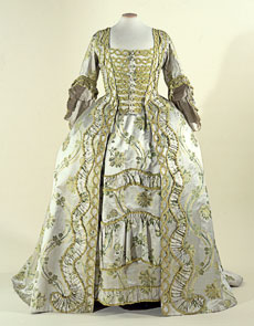 18th Century Costume - Robe a la Francais - Button Front Dress