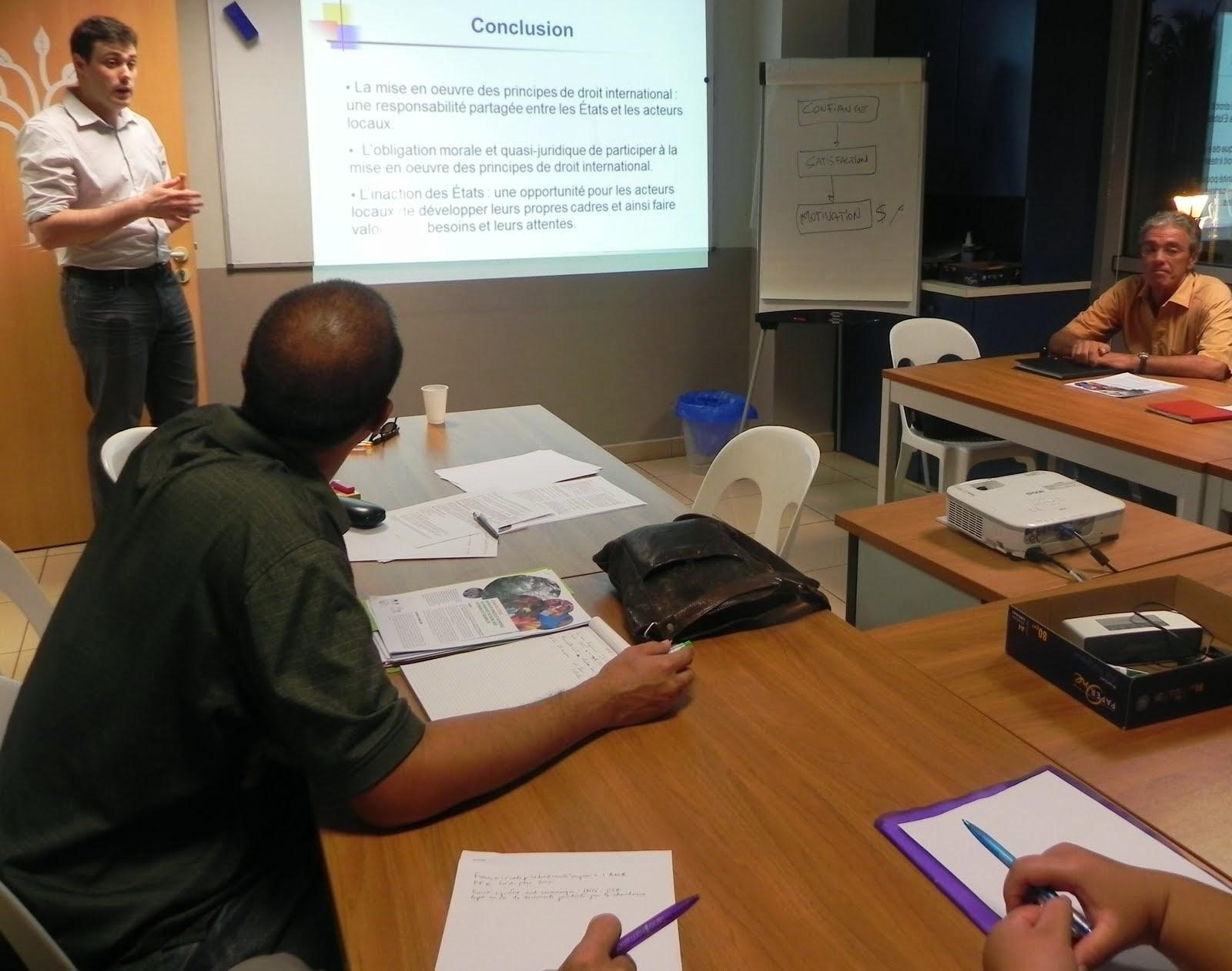 L'AJPF a accueilli jeudi 27 mars 2014 Thomas Burelli
