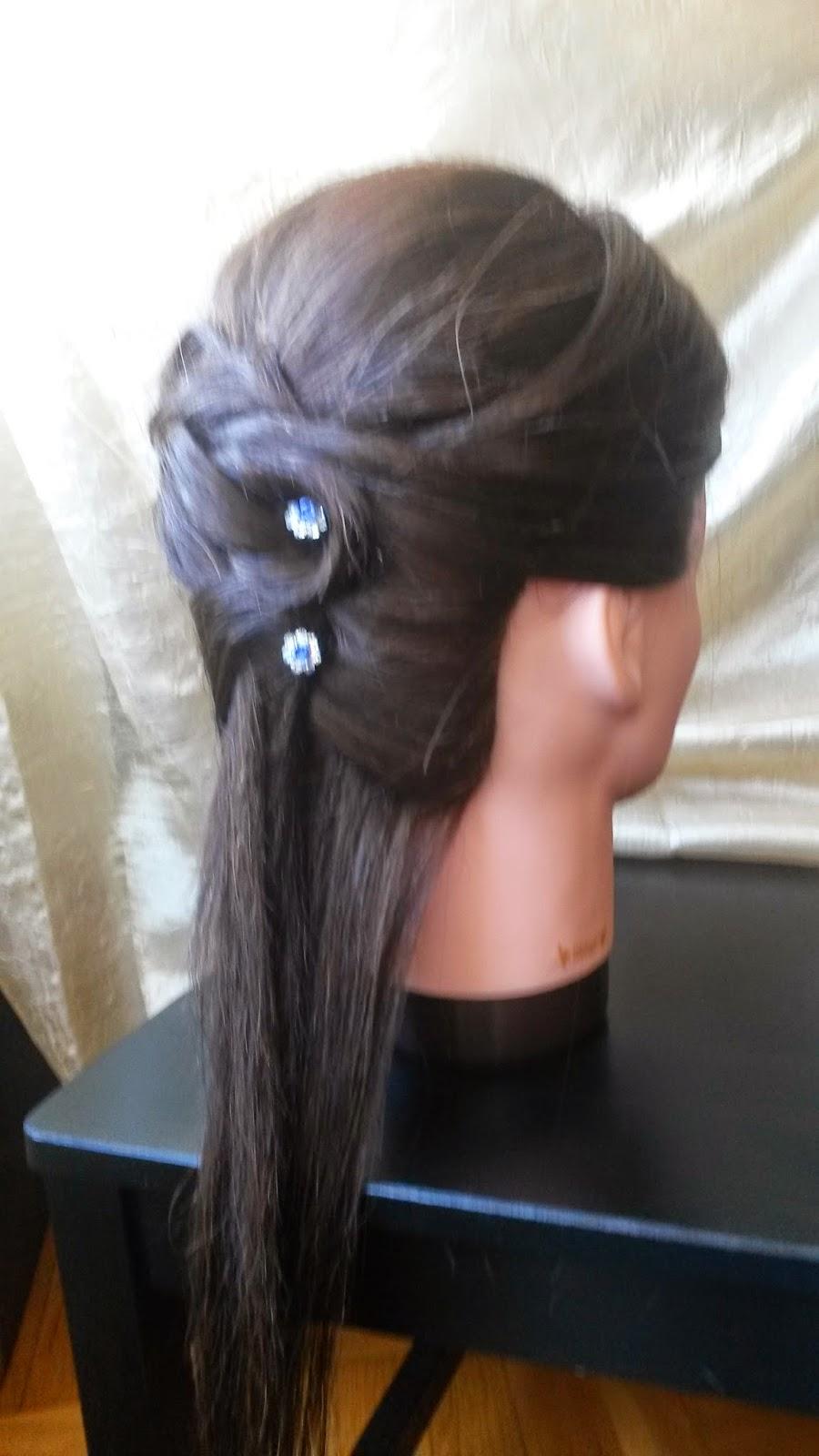 como veis lo que queda suelto parece ms largo as que es una buena opcin si no tienes el pelo muy largo espero que os haya gustado