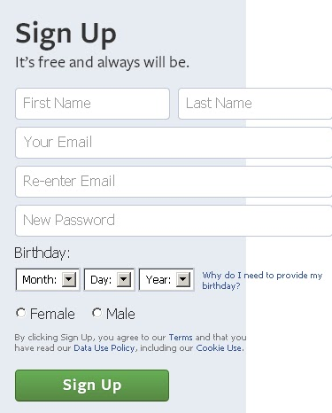 how to create facebook single name account