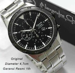 jam tangan original AC 6356 silver  2