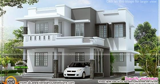 Kerala home design and floor plans simple beautiful house for Outer designs of beautiful houses