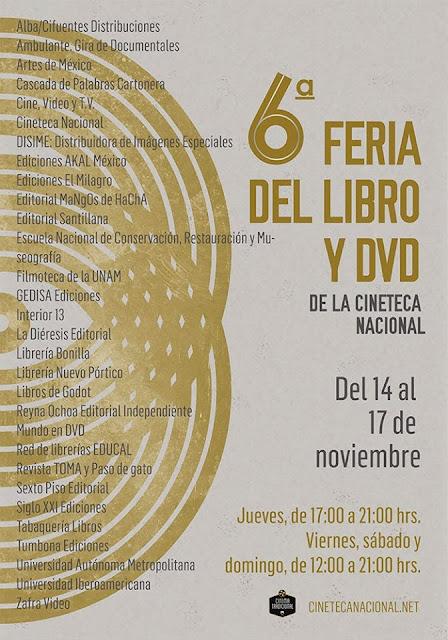 Sexta Feria del Libro y DVD en la Cineteca Nacional