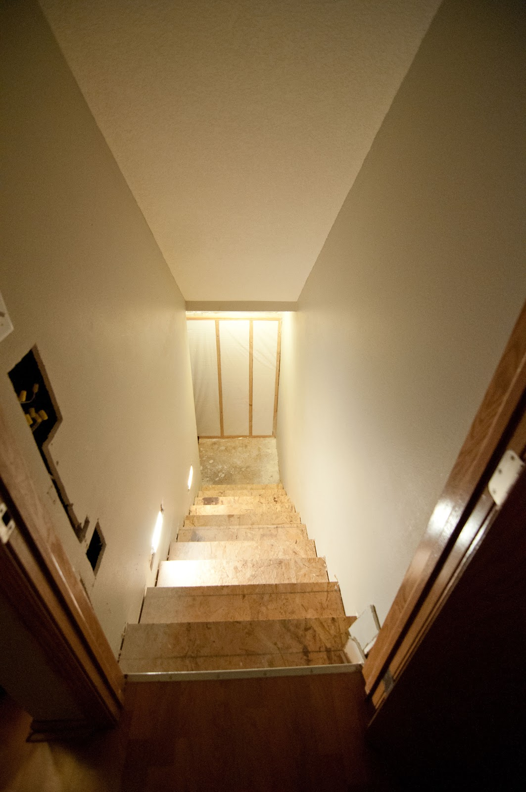 i just cant say it enough how impressed and proud i am of jon and all his work hes done in the basement he sure can be proud of his work when basement stairway lighting