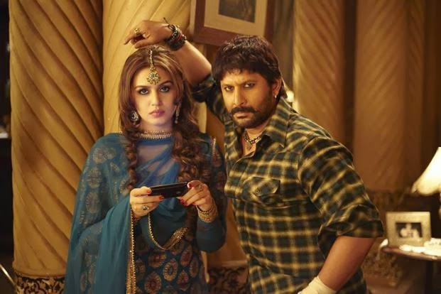 "Huma Qureshi as ""Munniya"" and Arshad Warsi as ""Babban"" in Dedh Ishqiya, Directed by Abhishek Chaubey"