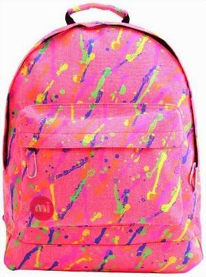 80s Splatter Paint Back Pack