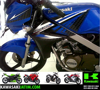 Ninja 150R Biru New Stripping depan