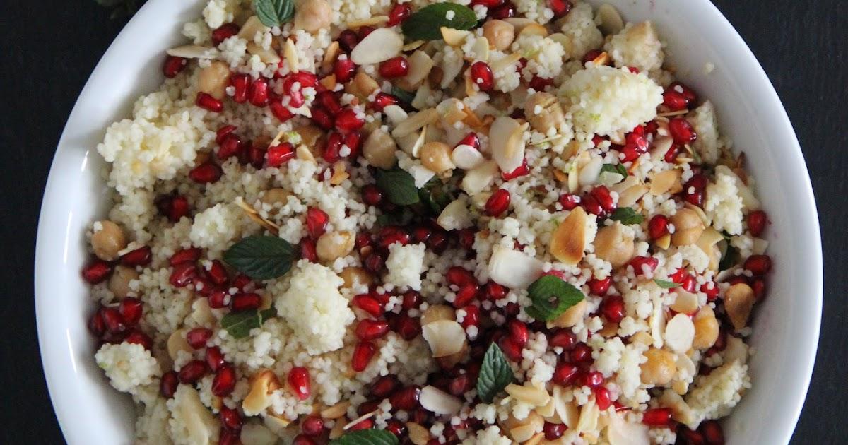 Zeitschriftenwurm: Couscous-Salat mit Kirchererbsen und Granatapfel