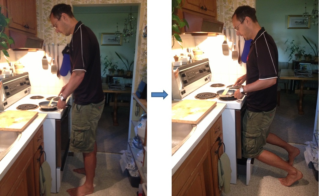 Good Tall People Working In Kitchen Stove Kneeling. Tall People Working In  Kitchen Stove Kneeling