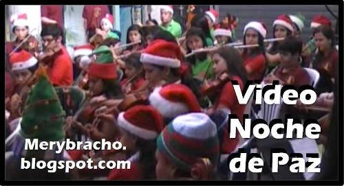 Video de Navidad. Noche de Paz. Orquesta Pequeños Mozart. Himno Noche de Paz. Orquesta sinfónica infantil y juvenil.  Música de Navidad. Videos cristianos.