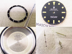 ROLEX PART 3 - INSERT BEZEL - CASEBACK - DIAL SUBMARINER 5513 - HANDS SUBMARINER TRITIUM