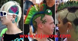 kumpulan gaya rambut yang aneh dan unik