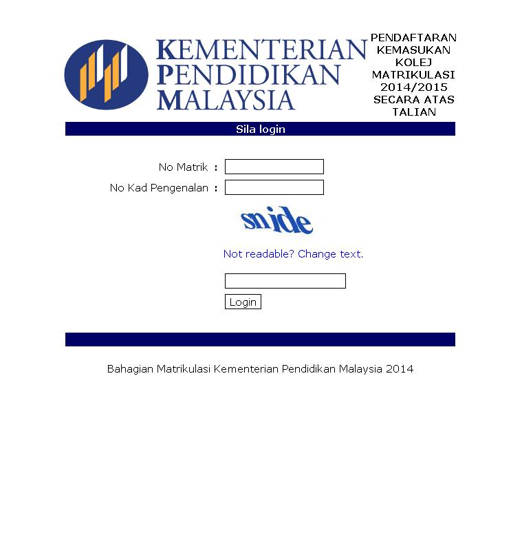 Cherita Kasih Fizairi Daftar Online Untuk Kemasukan Ke Kolej Matrikulasi Kedah