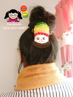 rainbow cupcake bun head
