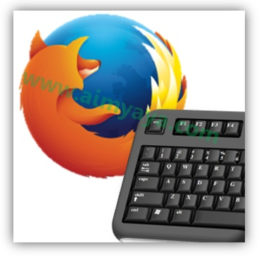 Gambar: ilustrasi keyboard shortcut di Mozilla Firefox