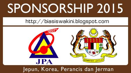Jabatan Perkhidmatan Awam (JPA) Sponsorships 201