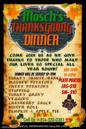 11-26 Mosch's Thanksgiving Dinner