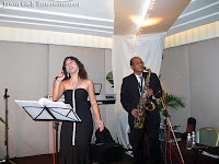 The Jazz band in action during the wedding event