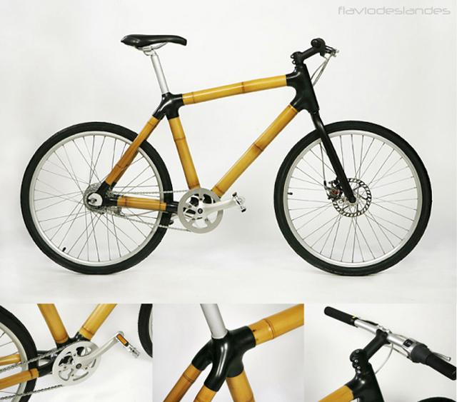 Designer brasileiro cria bicicleta de bambu e ainda ajuda comunidade carente
