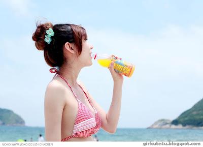 Li-Fan-Pink-and-White-01-very cute asian girl-girlcute4u.blogspot.com