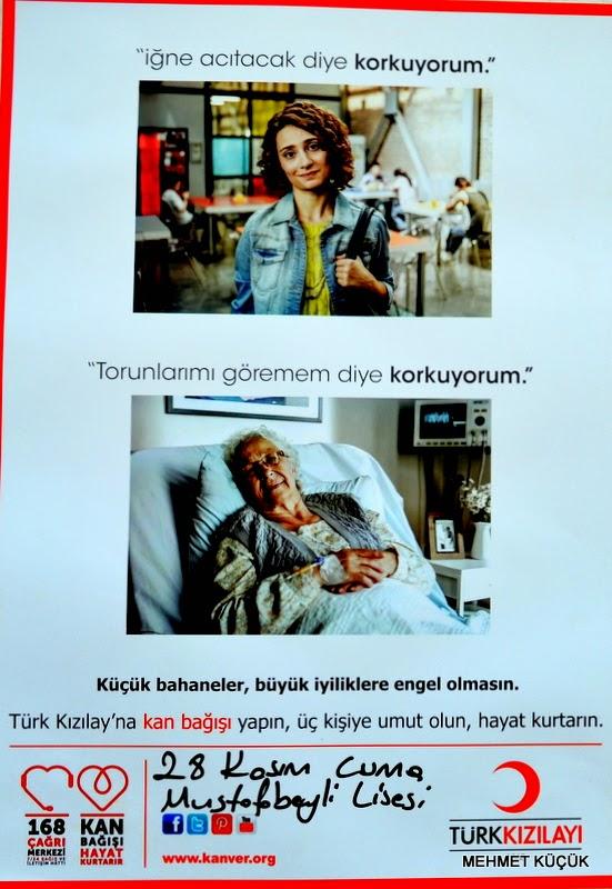 KIZILAY KAN ARACI MUSTAFABEYLİ'DE  28 Kasım Cuma günü saat 9:00 'da Kızılay Kan Toplama aracı okulu