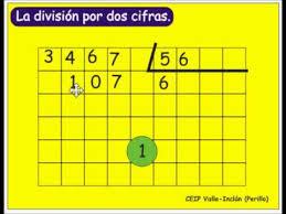 Repasando la división con dos cifras en el divisor