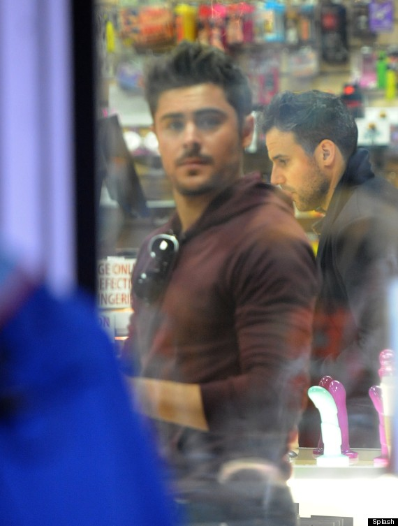 Zac Efron At Sex Shop 6