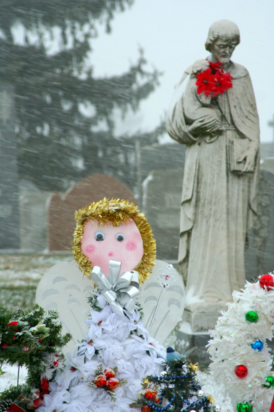 the cemetery traveler by ed snyder - Christmas Grave Decorations