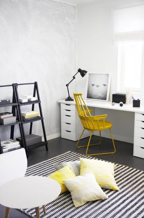 Vt wonen okergeel woonkamer for Interieur geel
