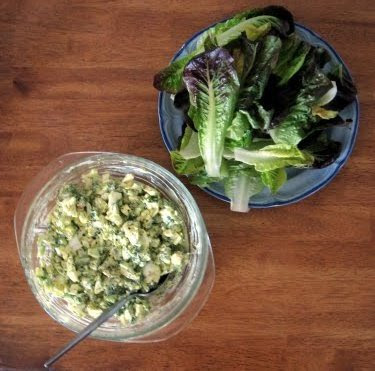 egg salad and butter lettuce