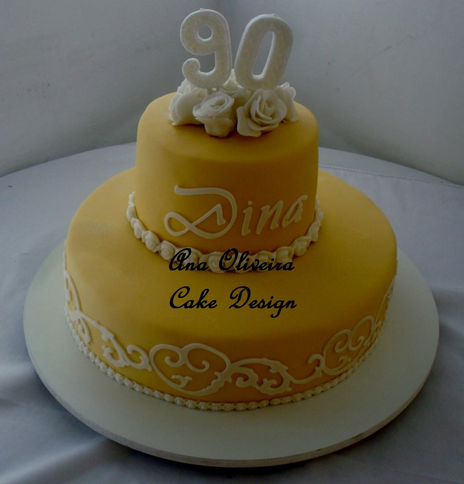 Cake Design Para Homem : Bolos Decorados Artisticos Rio de Janeiro: Bolo 90 anos