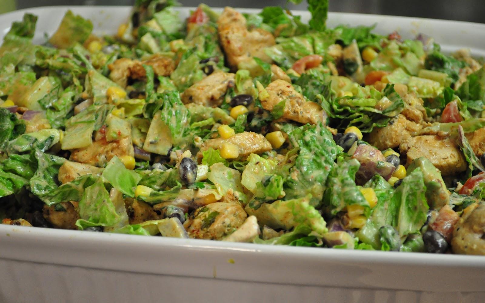 newlywed's kitchen: Chipotle Chicken Cajun Chicken Salad