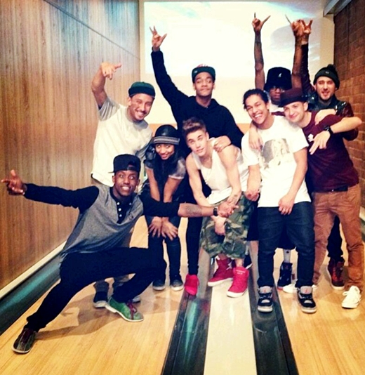 Justin Bieber Justin Bieber With His Some Dancers Amp Friends