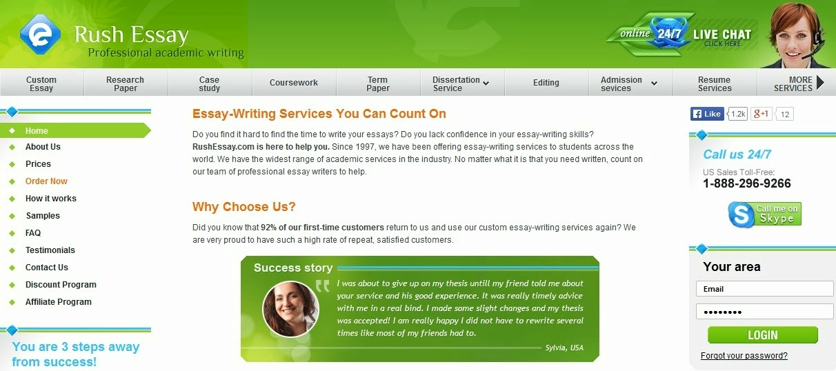rush essay uk We offer the most reliable services in the market provision of custom written material uk, us, canadian, australian writers our services are available 24/7.