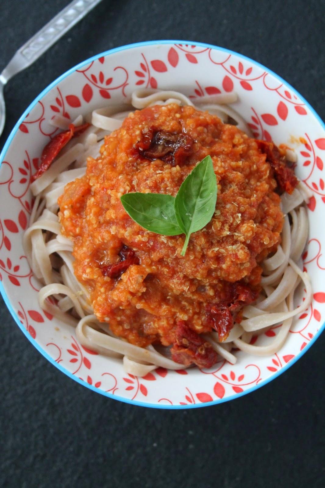 Sundried tomato bolognese