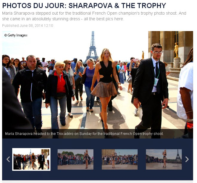Maria Sharapova French Open 2014 Trophy Photos