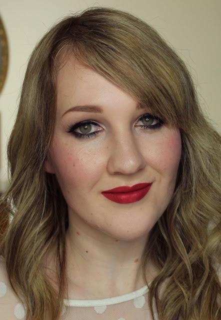 Darling Girl Pucker Paint Matte Lip Cream - Drop Dead Red lipstick swatches & review