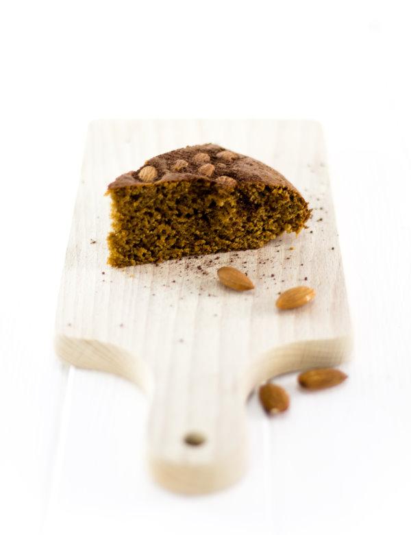 Mandel-Kaffeekuchen. Ein kalorienarmes, fettarmes Rezept!