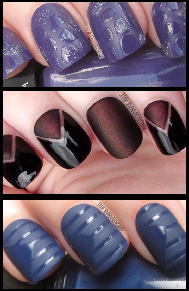 Arcadianailart 3 Quick Easy Matte Nail Art Ideas