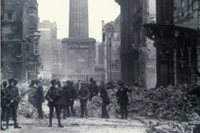 Photo in the aftermath of Easter Rising from the cover of 
