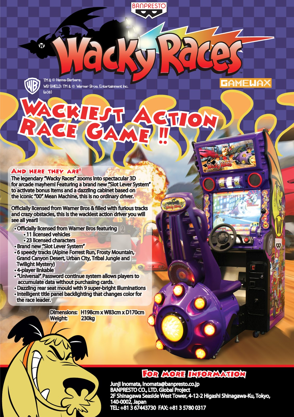 Reflections on Cult Movies and Classic TV: Wacky Races Arcade Game