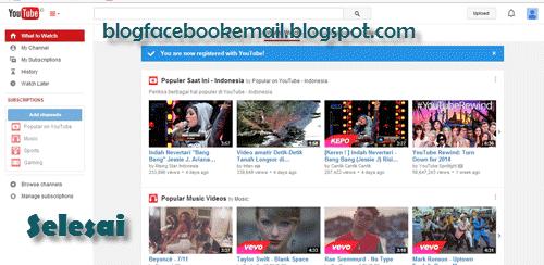 cara daftar youtube terbaru
