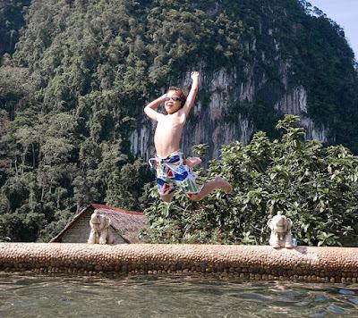 Pool at Cliff and River Resort, Khao Sok