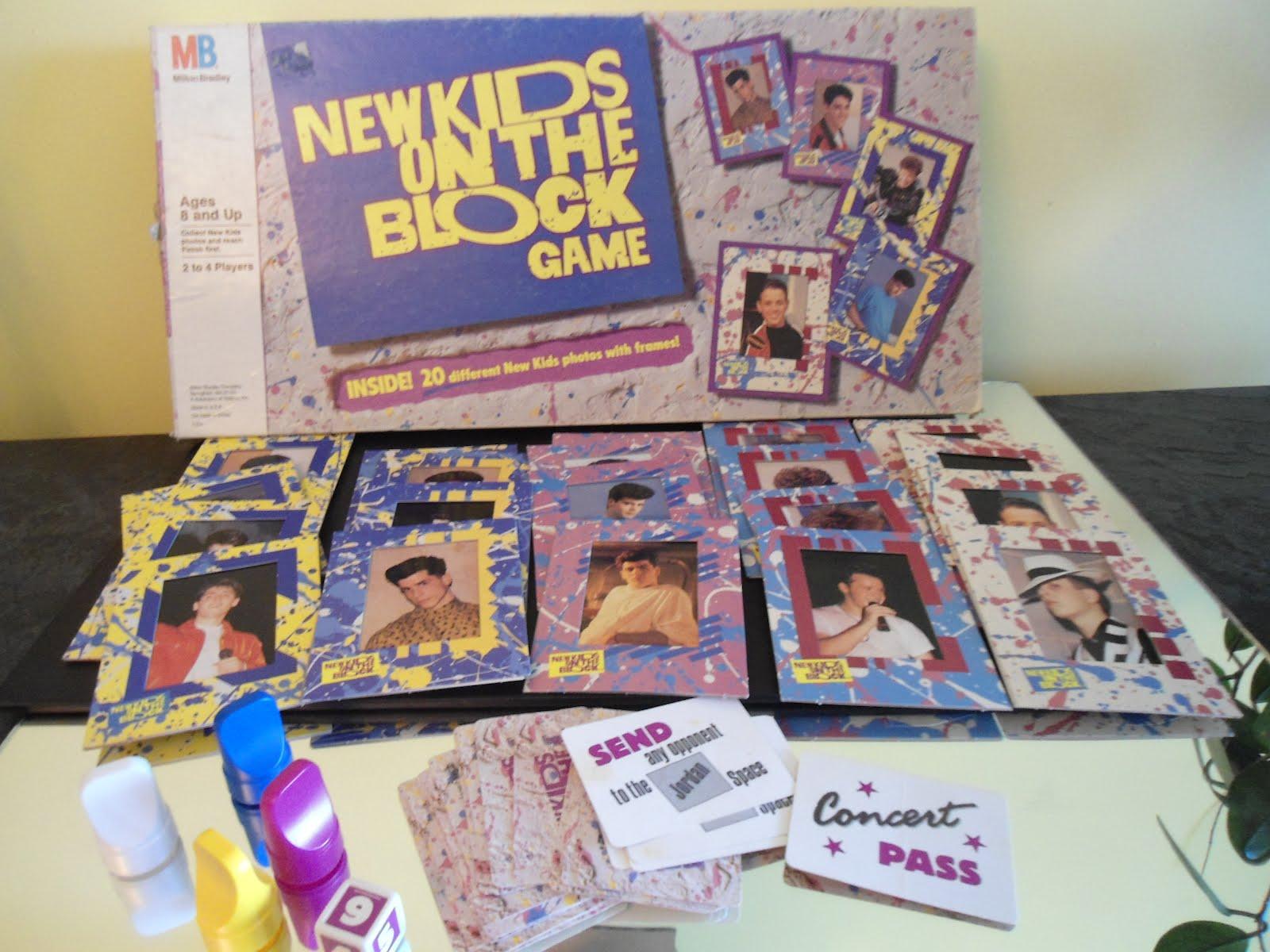 vintage board games new kids on the block game milton bradley 1990. Black Bedroom Furniture Sets. Home Design Ideas