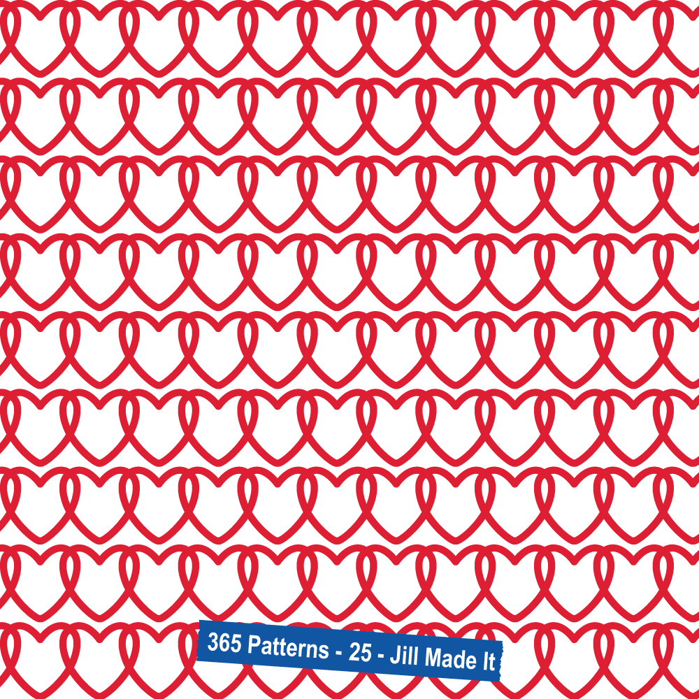 365 Patterns:  Interlocking Hearts