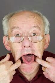 Elderly Man Making Face