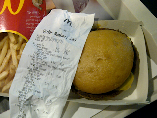 Gluten free burger bun from McDonalds Barcelona