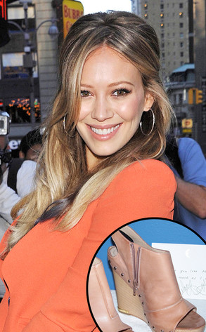 Hilary Duff selling shoes to benefit Lancaster Opera