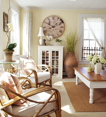 A room full of sunshine inspirations french country cottage for Pale yellow living room walls