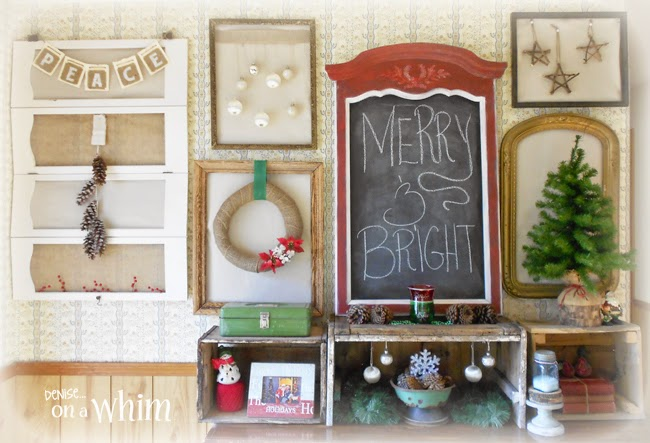 Christmas Gallery Wall from Denise on a Whim